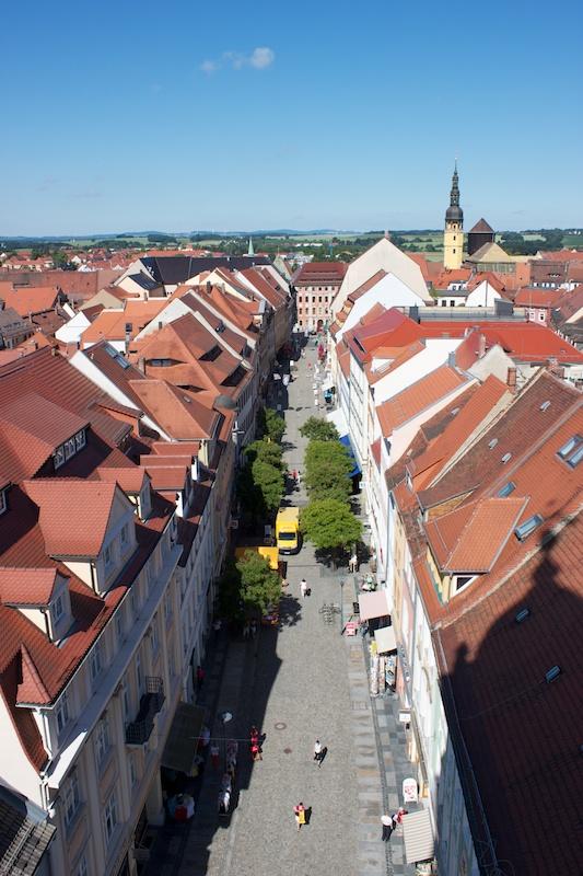 Spreeradweg, Bautzen, Altstadt